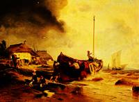 a_fishingboat_on_the_beach-Andreas Achenbach