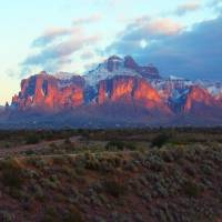 Superstition Mountain Snow Art Prints & Posters by Nico Diemel