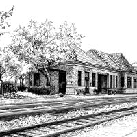 Hinsdale Train Station Art Prints & Posters by Mary Palmer