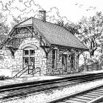 """""""Highlands Train Station"""" by marypalmer"""