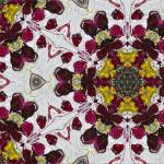 """Marsala and Gray Majolica Pattern Modern Tile"" by GinetteCallaway"