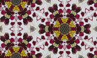 Marsala and Gray Majolica Pattern Modern Tile