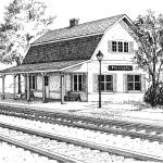 """Fairview Ave RR Station"" by marypalmer"
