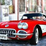 """1958 CORVETTE"" by ArtbySachse"