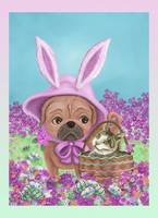 Pug and Kitty at Easter