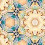 """Caramel Cupcakes Majolika Decor Tile"" by GinetteCallaway"