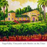 """Napa Valley Vineyards with Merlot on the Vine"" by Lisavmaus"