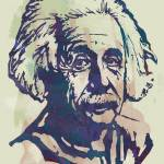 """Albert Einstei - Pop Stylised Art Sketch Poster"" by visualharbour"