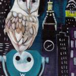 """O for Owl  - Alphabet City"" by artchiz"