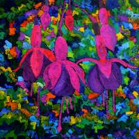 fuschia flowers 88 Art Prints & Posters by pol ledent
