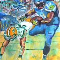 Seahawks ML 24 Art Prints & Posters by David Noah Giles