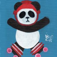 Roller Derby Panda Art Prints & Posters by Stephanie Chisholm