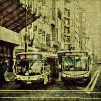 Montevideo Main Avenue Grunge Style Photo