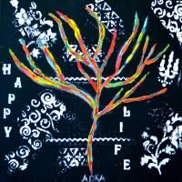 Happy Life Art Prints & Posters by Adka (Andrea Jones)