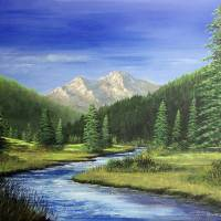 The Middle Fork Art Prints & Posters by Rich Summers Art