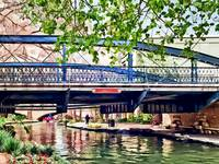 San Antonio TX - Bridge on Paseo Del Rio