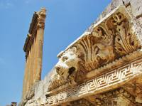 Carved Lion At Baalbeck