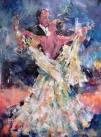Ballroom Dancing Art Gallery - Waltzing Couple