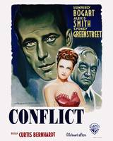 Conflict Movie Poster - Humphrey Bogart, Alexis Sm