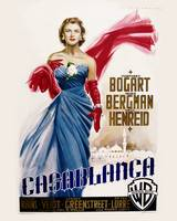 Casablanca Movie Poster - HBogart, Bergman