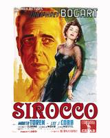 Sirocco Movie Poster - Humphrey Bogart, Maria Tore