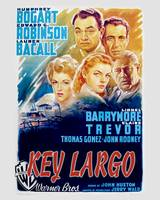 Key Largo Movie Poster - Bogart, Bacall, Robinson
