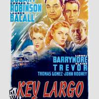 """Key Largo Movie Poster - Bogart, Bacall, Robinson"" by archiveprints"