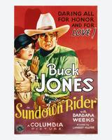 Sundown Rider Movie Poster - Buck Jones