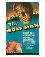 The Wolf Man Movie Poster - Claude Rains