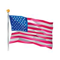 USA Flag Stars and Stripes Low Polygon