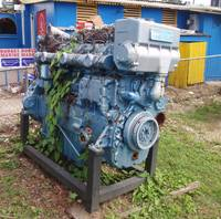 Old Overgrown Diesel Engine