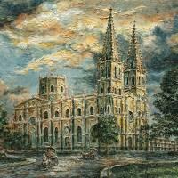 San Sebastian Church 1800s Art Prints & Posters by Joey Agbayani
