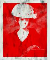 RED DAME IN HAT AFTER REYNOLDS