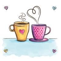 Coffee Cups Hot Love
