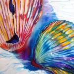 """SEASHELL ABSTRACT II"" by MBaldwinFineArt2006"