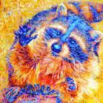 """Orange Raccoon"" by Liliya_Chernaya"