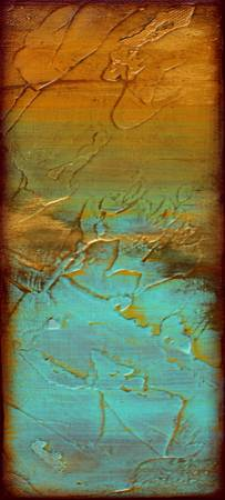 Gold and Blue - Textured Abstract