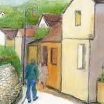 """Street scene, outside of Paris"" by KayArtiste"