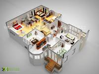 Dream home 3D Floor Plan Design UAE