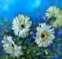Blue Breeze Daisies