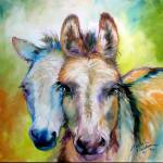 """DONKEY FRIENDS"" by MBaldwinFineArt2006"