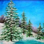 """""""Snowy Pines"""" by ckjonesart"""