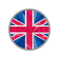 Union Jack UK GB Flag Circle Low Polygon