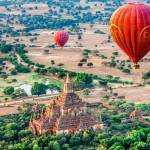 """Balloons Over Temples of Bagan"" by mjphoto-graphics"
