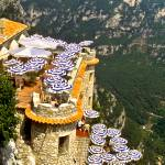 """Cliffside Cafe, Gourdon,France"" by mjphoto-graphics"