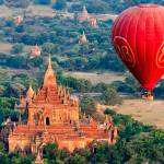 """Bagan Temple by Balloon"" by mjphoto-graphics"
