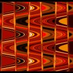 """Warm Colors Lines and Swirls Abstract"" by Groecar"