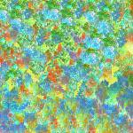 """""""Abstract Garden in Blue, Yellow and Red"""" by JessieLee72"""