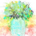 """""""Aqua Blue and Green Flower Bouquet"""" by JessieLee72"""