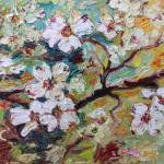 """Georgia Dogwood Blossoms Oil Painting"" by GinetteCallaway"